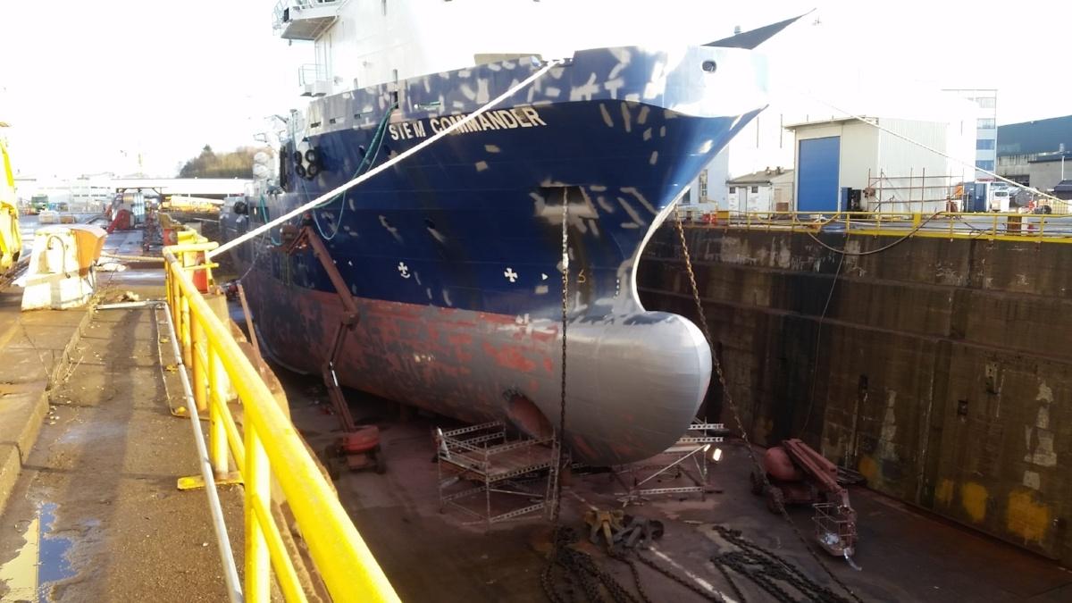 gas free docking at GMC Stavanger