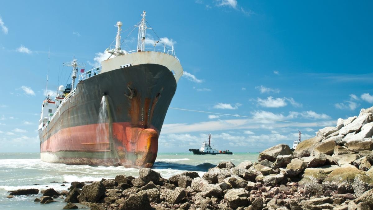 ship ran aground